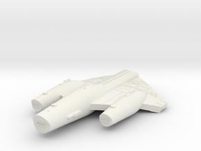 3788 Scale ISC X-Ship X-Command Cruiser (CCX) SRZ in White Natural Versatile Plastic