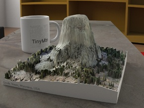 Devils Tower, Wyoming, USA, 1:2500 in Natural Full Color Sandstone