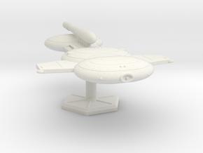7000 Scale Gorn Godzilla Battleship (BB) SRZ in White Natural Versatile Plastic
