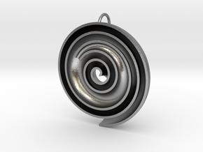 InFin Nautilus: Pendant - Large in Natural Silver