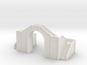 Railway Foot Bridge 1/220 in White Natural Versatile Plastic