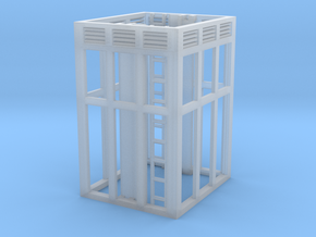 Aufzug Zwischengeschoß, verglast, mit Lüftern in Smooth Fine Detail Plastic