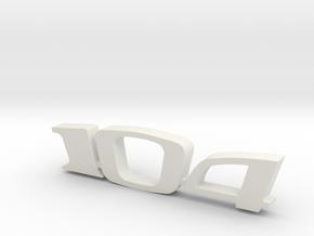 keychain peugeot 104 in White Natural Versatile Plastic