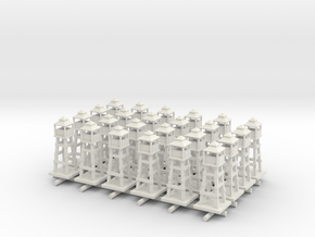 Airport Tower/Watch tower x24 in White Natural Versatile Plastic