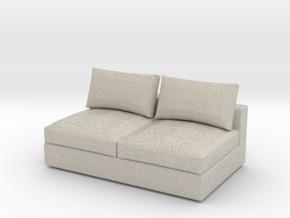 Miniature 1:48 Sofa in Natural Sandstone: 1:48 - O