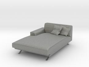 Miniature 1:24 Sofa in Gray PA12: 1:24