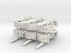 Coastal Artillery (x12)  in White Natural Versatile Plastic
