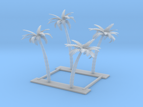 4 palm trees Z scale in Smooth Fine Detail Plastic