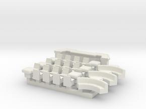 6mm Space Bar (37pcs) in White Natural Versatile Plastic