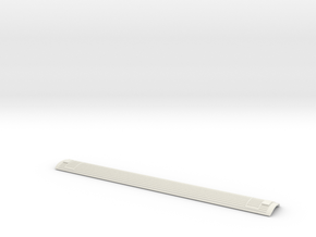3mm Scale Mk3 Coach Roof in White Natural Versatile Plastic