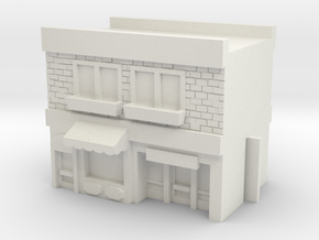 Row Building - Mid - Shops 2 in White Natural Versatile Plastic