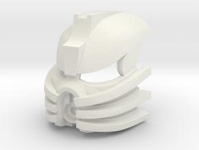 Kanohi Mutuku - Mask of Emulation in White Natural Versatile Plastic
