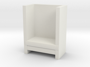 Modern Miniature 1:48 Armchair in White Natural Versatile Plastic: 1:48 - O