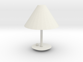 Modern Lamp in White Natural Versatile Plastic: Small
