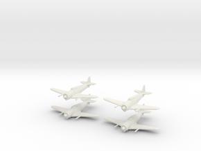 1/200 Bloch MB.152 (x4) in White Natural Versatile Plastic