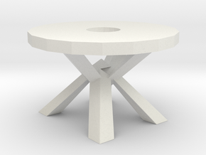 Modern Miniature 1:48 Table in White Natural Versatile Plastic: 1:48 - O