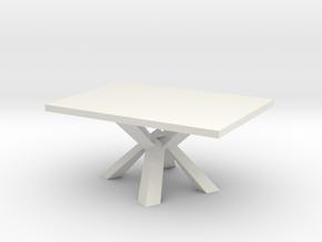 Modern Miniature 1:24 Table in White Natural Versatile Plastic: 1:24