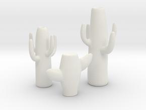 Modern Miniature 1:24 Decoration in White Natural Versatile Plastic: 1:24