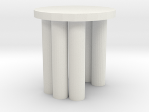 Modern Miniature 1:48 Coffee Table in White Natural Versatile Plastic: 1:48 - O