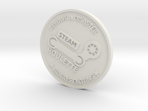 Inside Gaming Coin in White Natural Versatile Plastic