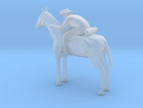 O Scale Cowboy and Horse in Smooth Fine Detail Plastic