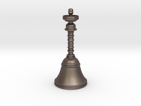 300 Million-year Old Brass Bell Replica in Polished Bronzed Silver Steel