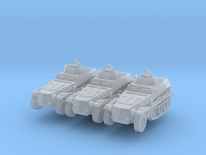 Sdkfz 250/4 A Anti Aircraft (x3) 1/200 in Smooth Fine Detail Plastic