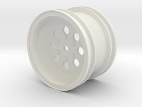 Tamiya WIld one Rear wheel in White Natural Versatile Plastic