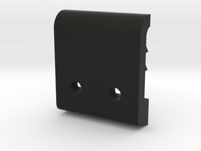 Helmet clip tab 2 shorter in Black Natural Versatile Plastic