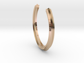Star circumference ring in 14k Rose Gold Plated Brass