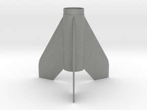 Scamp-style Fin Unit BT50 for 18mm motors in Gray PA12