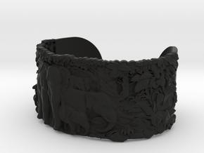 Elephants Bangle Bracelet in Black Natural Versatile Plastic