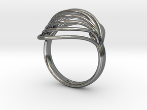 Shea | Ring  in Fine Detail Polished Silver: Medium