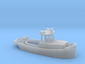 Small tug with steering cabin in Smooth Fine Detail Plastic