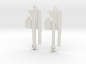 Modern Earrings Design!!! in White Natural Versatile Plastic