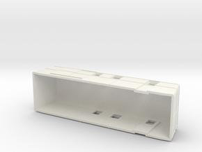 Swedish wagon for railcar UDFo1 H0-scale in White Natural Versatile Plastic