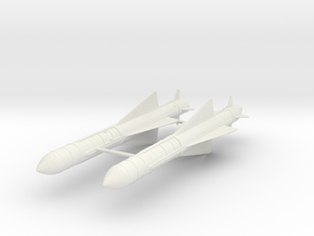021L Exocet AM-39 1/32 Set of 2 in White Natural Versatile Plastic
