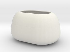 Modern Miniature 1:24 Vase  in White Natural Versatile Plastic: 1:24