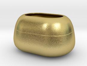 Modern Miniature 1:24 Vase  in Natural Brass: 1:24