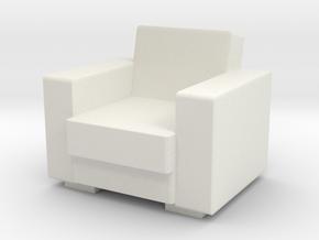 Vintage Armchair 1/12 in White Natural Versatile Plastic