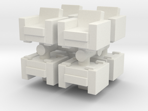 Vintage Armchair (x8) 1/120 in White Natural Versatile Plastic