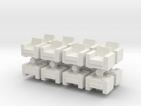 Vintage Armchair (x16) 1/160 in White Natural Versatile Plastic