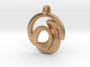 Circle Wave Pendant in Natural Bronze
