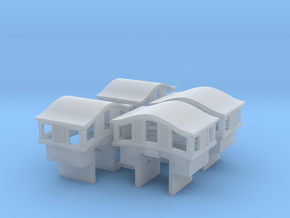 A30 N 'Bombay' roof caboose cupola, Ath/MDC, w/int in Smoothest Fine Detail Plastic