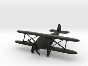 Beechcraft Model 17 Staggerwing in Black Natural Versatile Plastic: 1:72