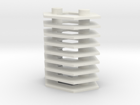 Microhex Stands 5mm in White Natural Versatile Plastic: Large