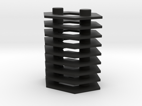 Microhex Stands 5mm in Black Natural Versatile Plastic: Large