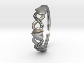 XOXO Ring in Natural Silver: 6 / 51.5