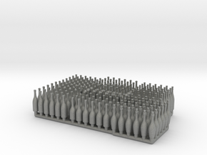 Bottles Ver01 .1:24_ Scale in Gray PA12