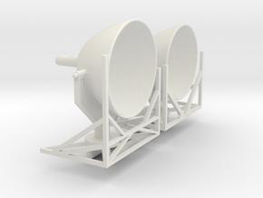 (1:72) Schallkanone in White Natural Versatile Plastic